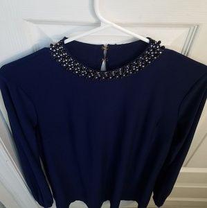 Trinity' Embellished Jersey Shift Dress